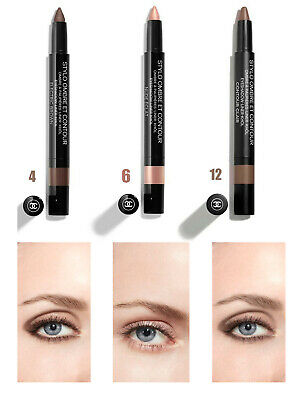 Chanel Ombretto Stylo Ombre Et Contour 04 Electric Brown 06 Nude Eclat 12 Clair