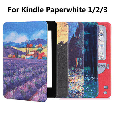 Cover PU Leather Smart Case Protective Shell For Amazon Kindle Paperwhite 1/2/3