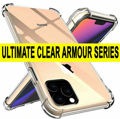 CLEAR Case For iPhone 11 Pro Max XR X XS Max 7 8 Cover Silicone Shockproof TOUGH