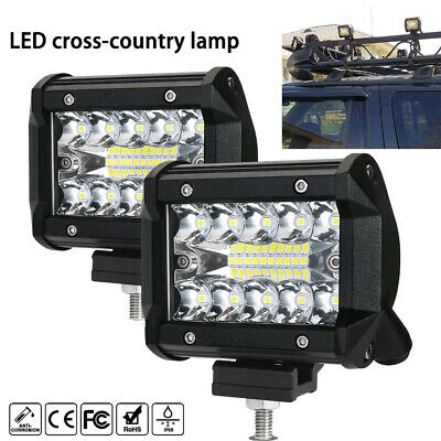 2pcs CREE 200W LED Light Bar SPOT FLOOD 3Row Offroad Work Fog Lamp New