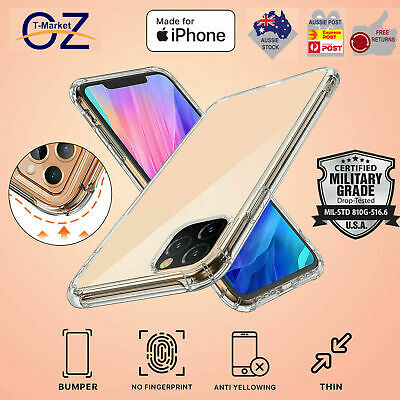 Shockproof iPhone 11 Pro Max Clear Case Bumper Crystal Slim Cover Silicone TPU