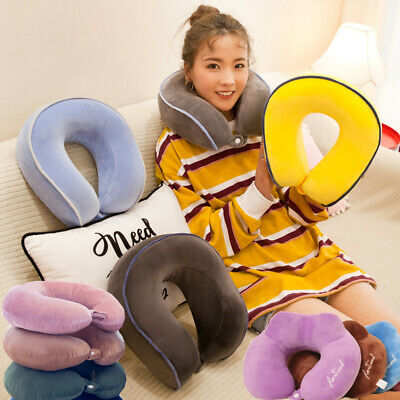 Memory Foam U Shaped Travel Pillow Neck Support Head Rest Airplane Cushion SE