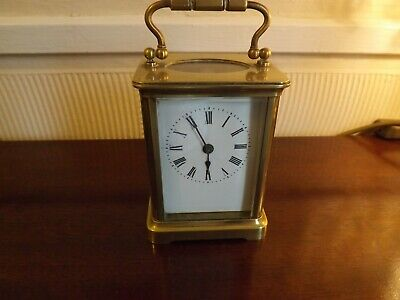 CHARMING LATE 19c RICHARD & Co CARRIAGE CLOCK MADE IN PARIS