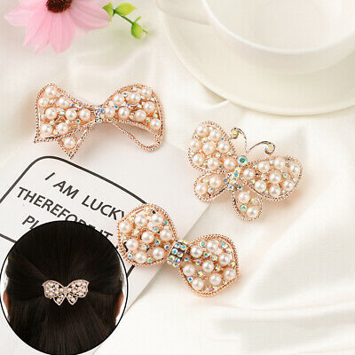 Headwear Accessories Hairgrip Pearl Barrettes Cute Hairpin Crystal Hair Clip