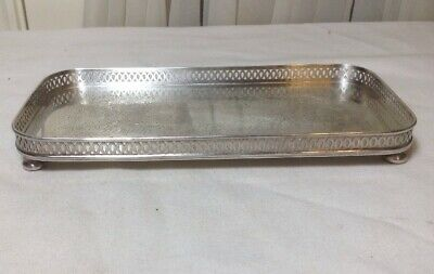 Vintage The Sheffield Silver Co EPC 9-80 Footed Reticulated Tray Made In USA