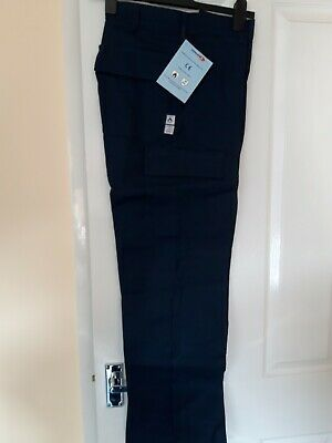 """Welding Trousers Alsico size 30/""""S Proban Flame retardant work trousers Navy"""