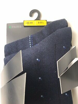 Marks & Spencer Tailoring Pima Cotton Socks 8-9.5 2 Pairs From A Pack Of 4