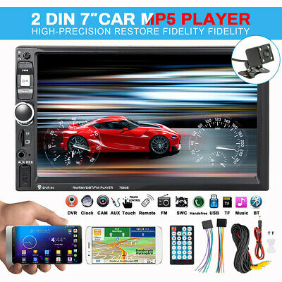 7'' Double Car Radio Stereo MP5 Player 2 Din bluetooth FM AUX USB New Arrival