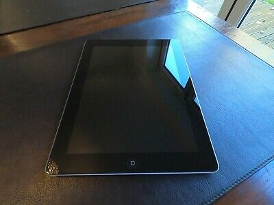 Apple iPad Black, with Belkin leather case & charger. 4th Gen. 9.7in - Black