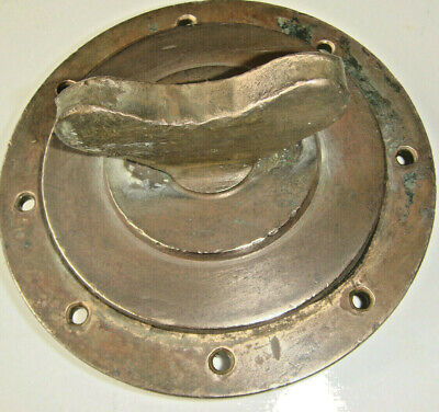"""BRASS BOAT deck fitting from an old navy launch. 6"""" across and 4lb + in weight."""