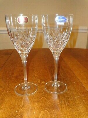 "Royal Doulton Crystal Hellene 8 ¼"" Water Goblet Lot Of 2 New"