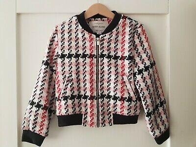 River Island Girls Jacket 5 Years Pink & Black Dogtòoth *Combine postage*