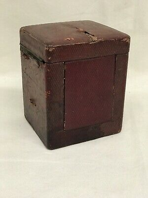 Victorian French Carriage Clock Leather Travelling Case