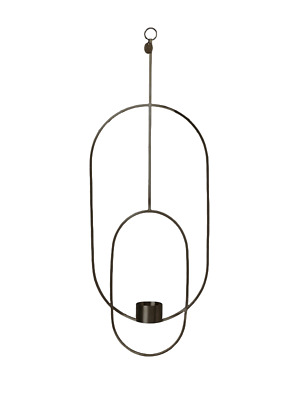 Ferm Living Hanging Kerzenhalter Oval, Black