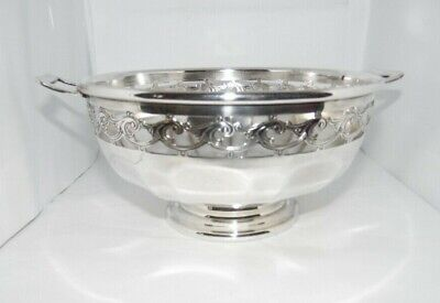 Walker & Hall Silver Plated Pedestal Pierced Fruit Bowl A1