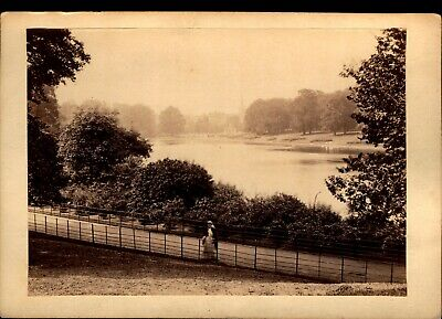 The Serpentine - Photo Views of London VTG Cabinet Card Photo