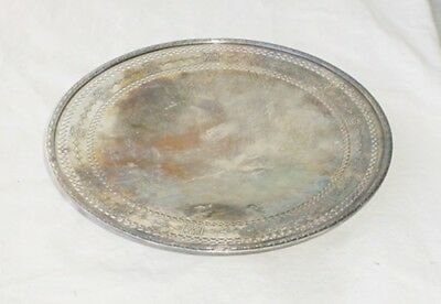 """Vintage Wallace Wallingford NS Silverplate 10"""" ftd Tray"""