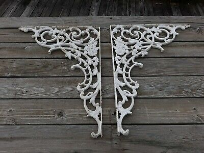 Pr Old or Antique Cast Iron Victorian Type Architectural Corner Brackets Archway