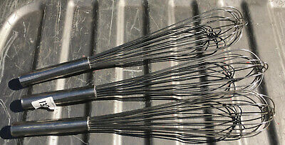"""LOT 3 Stainless Steel 18"""" Whisks whip beater hand wire"""