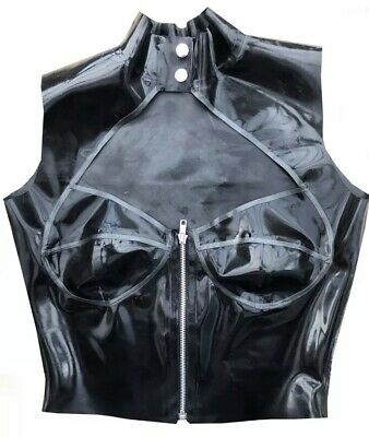 Latex Rubber Gummi Blouse  Boob Cup Top/shirt Fetish Couture Size 14-16s