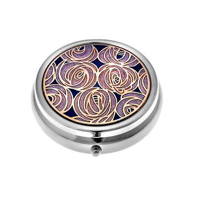 Sea Gems - Mackintosh Collection - Rose Pill Box - Large - Purple