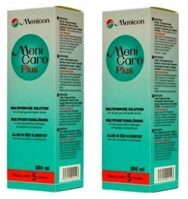Meni Care Menicare Plus Twin Pack 2 x 250ml Menicon for hard rgp contact lenses