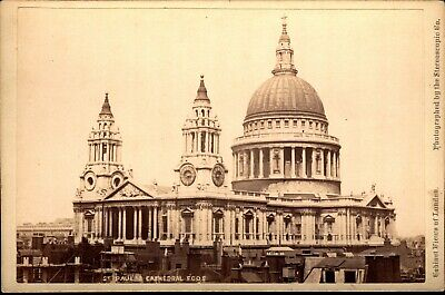 St. Paul's Cathedral - Photo Views of London VTG Stereoscopic Co Cabinet Card