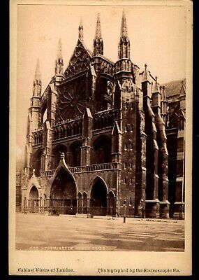 Westminster Abbey - Photo Views of London VTG Stereoscopic Co Cabinet Card