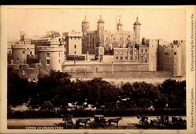 Tower of London - Photo Views of London VTG Stereoscopic Co Cabinet Card