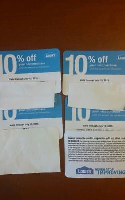 (20𝓧) Lowes 10% ᴏff Competitor Oɴʟʏ COUPONS | Home Depot | EXP JULY 2020