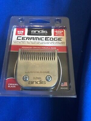Andis CeramicEdge Carbon-Infused Steel Pet Clipper Blade Size-7FC 1/8-Inch Cut