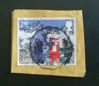"""1 x USED GB 2018 Christmas """"Postbox"""" 2nd Class Large Letter STAMP POSTMARK"""