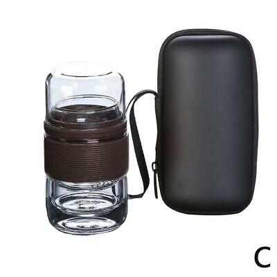 Travel Set Kung Fu Pot with Portable Case Glass with Infuser Teacup Q8W0