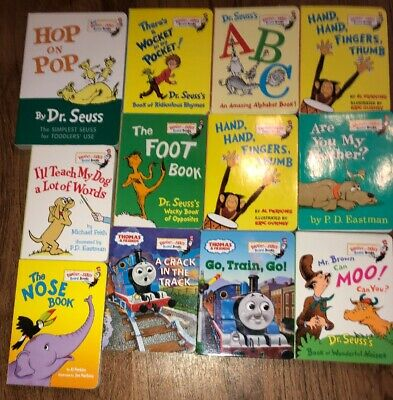 Lot of 12 Dr. Seuss Bright and Early Children Kids Read BOARD Books NICE!
