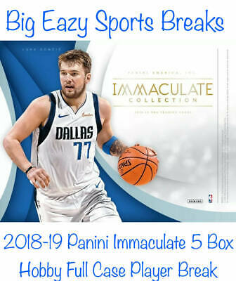 Muggsy Bogues 2018-19 Panini Immaculate Basketball 5 Box Full Case Player Break