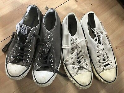 Two Pairs Of Mens Classic Size 9 Converse Shoes, Worn, Vintage Look