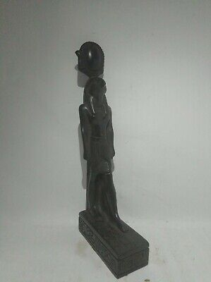 RARE ANTIQUE ANCIENT EGYPTIAN Statue God Horus Stone Black 1335-1325 Bc