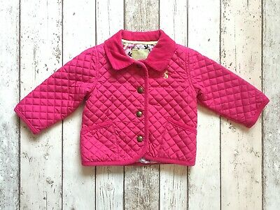 Joules Baby Girls Quilted Riding Style Jacket 3-6 Months