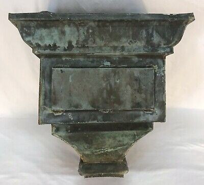 Antique Copper Architectural Building Gutter Downspout