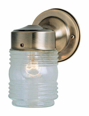 Westinghouse  Antique Brass  Clear  1 lights Wall Sconce