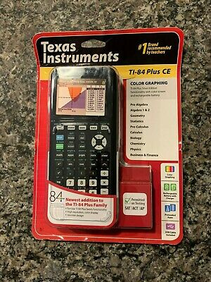 New TI-84 Plus Texas Instruments CE Graphing Calculator Black