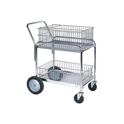 "Mail Cart, 33 1/2"" x 23 3/4"" x 38 1/4"", Silver, 1/Each"