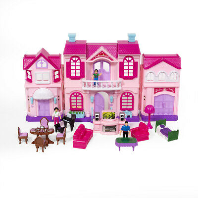 Fold-and-Go Mini Doll House My Sweet Surprise Enchanted Home Lights Sound 18pcs