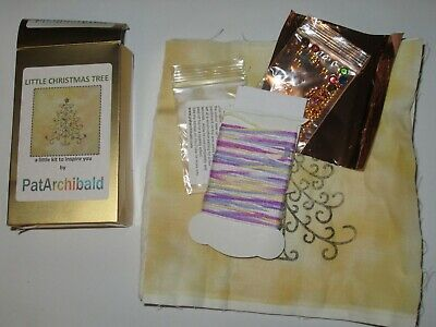 Little Christmas Tree Kit By Pat Archibald - Quilt Sew Panel Cushion Art Work