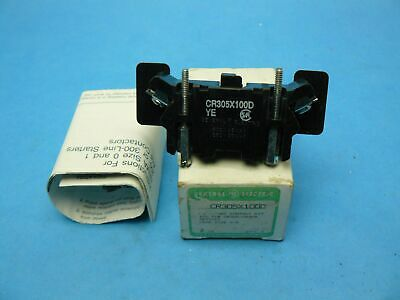 General Electric GE CR305X100D Auxiliary Contact Adder 1 NO NEMA Size 0-5 NOS