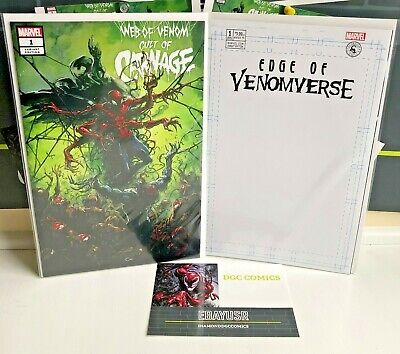 Venom Set Web of Venom: Cult of Carnage #1 Edge of Venomverse BLANK #1 NM Marvel