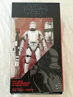 "Star Wars The Black Series 6"" First Order Flametrooper Figure New Damaged Box"