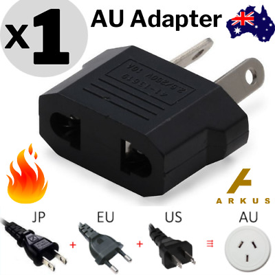 🔥1x Europe EU Japan JP / US to Australia AU Power Plug Adapter Travel Converter
