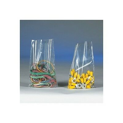 """Flat 1 Mil Poly Bags, 6"""" x 24"""", Clear, 1000/Case"""