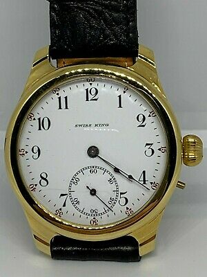 Trenton Very Rare 16s 3 finger pocket watch custom conversion to Wristwatch